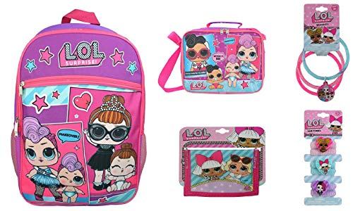 "Price comparison product image Gift Set 5 Items Essentials Set L.O.L Surprise! Large Work It School LOL Backpack 16"" Girls Bag"