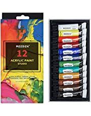 MEEDEN Acrylic Paint Set (12ml/0.4 oz.) Non Toxic Rich Pigments Colors Great for Art Students, Hobby Painter & Kids Painting on Canvas Wood Fabric Ceramic Crafts