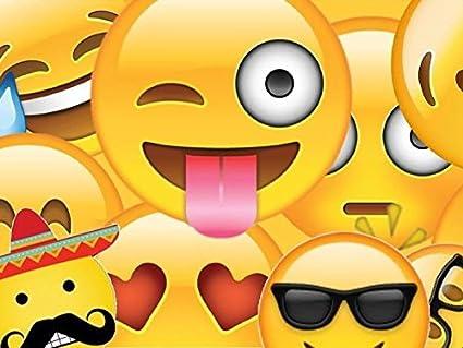 Amazon SDore Emojis Emoticon Edible Birthday Cake Image Topper