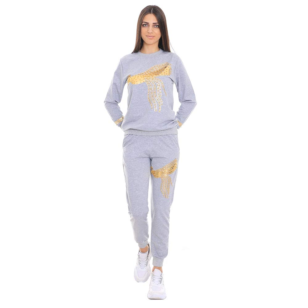 Moddy's 2 Piece Peacock Printed Tracksuit Sets Long Sleeve Casual for Women | Clubwear Jogging Suits Outfits Women Sweatsuits