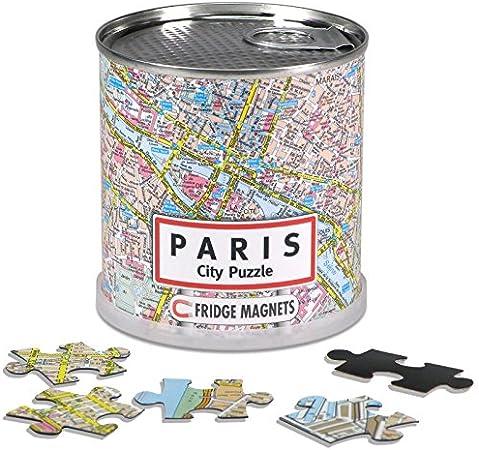 Extra Goods - Puzzle magnético París enlatado, 100 piezas, 26 x 35 ...