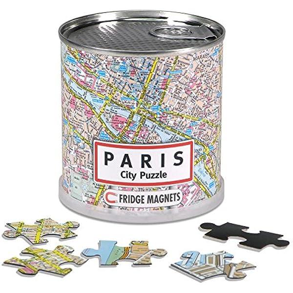 Extra Goods - Puzzle magnético París enlatado, 100 Piezas, 26 x 35 cm (Mapiberia 89010): Amazon.es: Juguetes y juegos