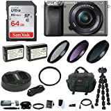 Sony Alpha a6000 Mirrorless Camera w/ 16-50mm Lens Essential Bundle - Graphite