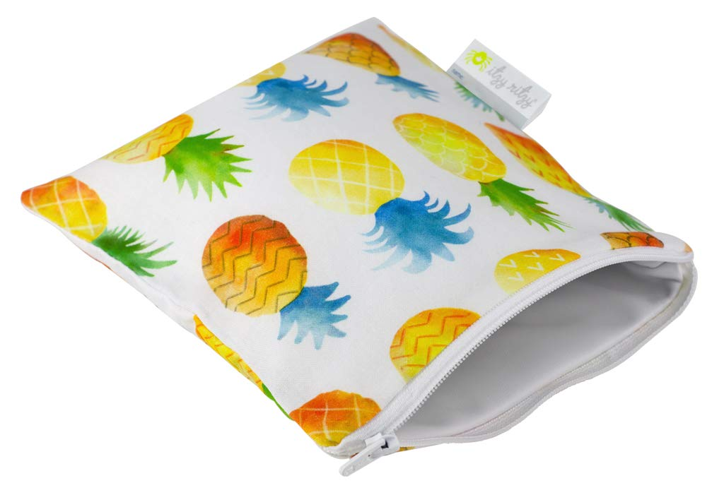 green Itzy Ritzy Happens Reusable Snack and Everything Bag Ice Cream Social