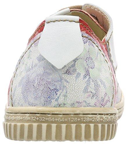 Zapatos para Blanco Weiß Vino de Nieve Nieve Cordones Mujer Oxford Rovers UqWf7dPI7