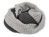 Luckystaryuan ® Christmas Gift Set of 2 Lover Neck Warmer Men Women Woolen Scarves (grey)