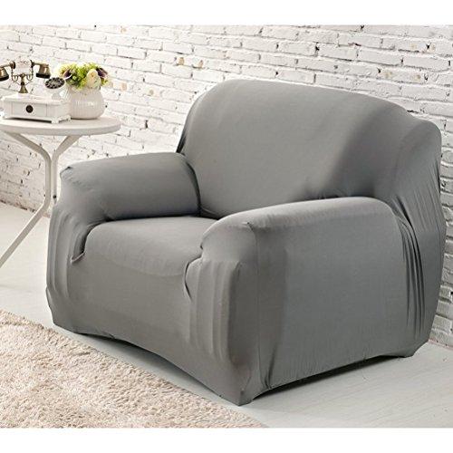 WINOMO Fundas de sillón Poliéster t-almohadilla Funda de silla Funda de sofá de un asiento (Gris)