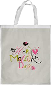 Happy mother's day Printed Shopping bag, Large Size