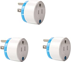 Z-Wave Smart Outlet, Zwave Plug Home Automation Mini Z Wave Socket Work with Wink, Smartthings, Vera, Zipato, Iris and Fibaro (3 Pack) by HAOZEE