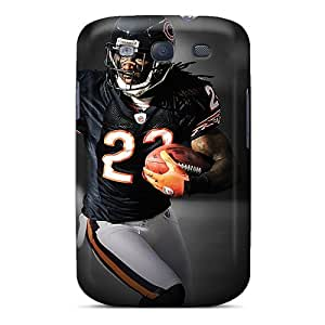 KennethKaczmarek Samsung Galaxy S3 Shock Absorbent Hard Phone Case Allow Personal Design High Resolution Chicago Bears Pattern [yZx2516aDSA]