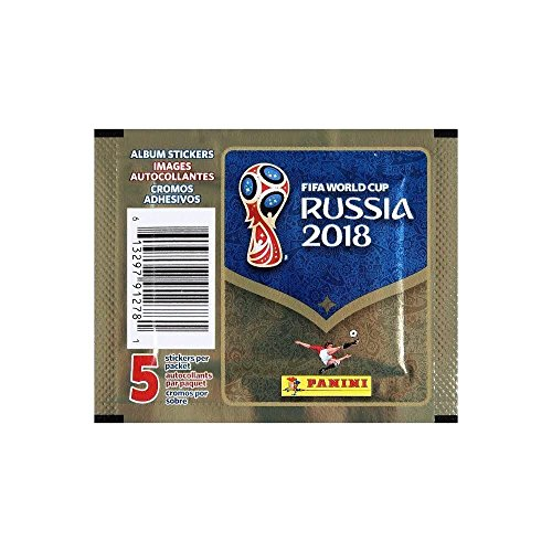 Panini 2018 Fifa World Cup Russia Single Sticker Pack (5 stickers in one pack)
