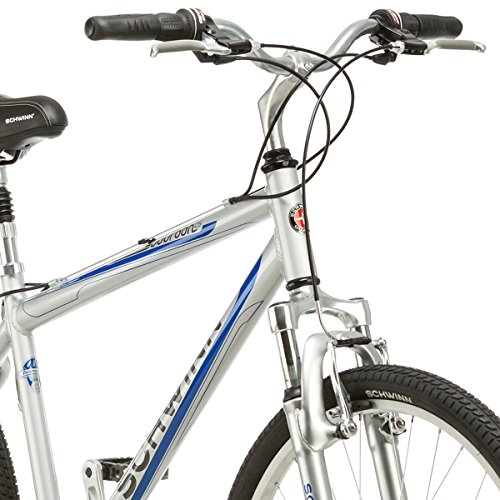 "Schwinn Mens 21 Speed Suburban 26"" Upright Comfort Cruiser Frame Hybrid Bike"