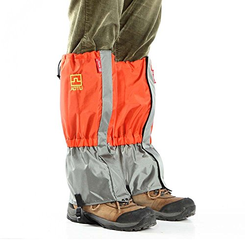 1 Pair of Windproof Ski Snow Gaiters Leg Protection Guard Skiing Hiking Climbing Moutaineering (Orange) by New Brand