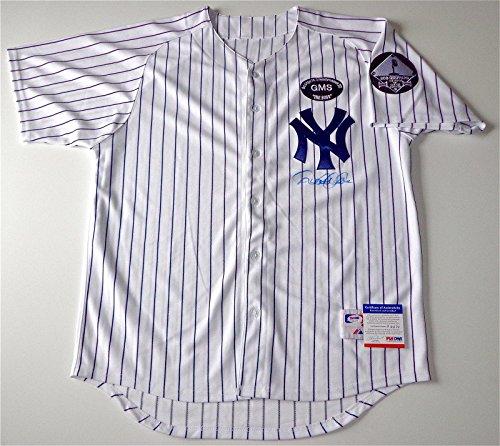 (Autographed Derek Jeter Jersey - Steinbrenner & Sheppard Patches Coa P64179 - PSA/DNA Certified - Autographed MLB Jerseys )