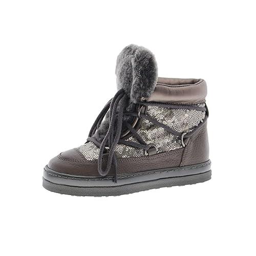 Zapatos Niña Botas Botines Unisa Fril Ft Acero 28