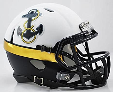 363696853cf Amazon.com   Navy Midshipmen Replica Speed Mini Helmet -  12 Special ...