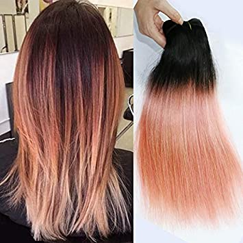 Amazon Com Alibless Ombre Hair Bundles Ombre Color 1b Pink Rose