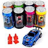 Bhbuy Multi color Coke Can Mini Speed RC Radio Remote Control Micro Racing Car Toy Gift