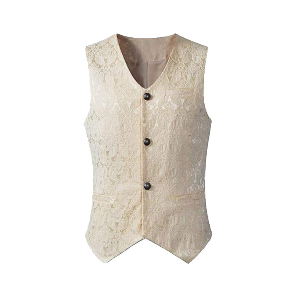 Juleya Steampunk Vest Steampunk Waistcoat Victorian Sleeveless Gothic Brocade Gothic Middle Ages Vintage Vest B181001MW1-J