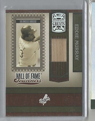 2005 Donruss Greats Baseball Eddie Murray Hall Of Fame Souvenirs Bat Card (CSC)