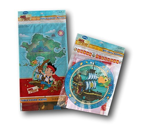 Jake and the Neverland Pirates Party Supply Set - Table Cover and Banner by Hallmark -