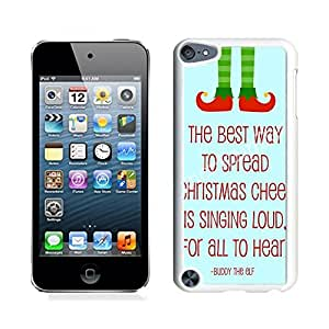 Ipod 5 Cases,Christmas Cheer Letters White Hard Shell Plastic Apple Ipod Touch 5th Cases