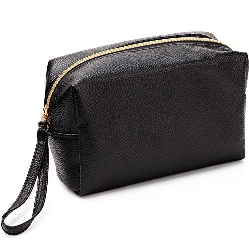 VASKER PU Leather Makeup Bag Handy Cosmetic Pouch Travel Portable Handbag Purse Toiletry Storage Bag Large Organizer with Zipper Women