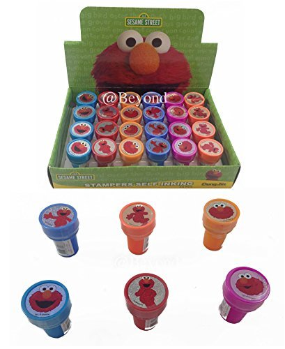 Disney Elmo Self-inking Stamps Birthday Party Favors 24 Pieces (Complete Box) -