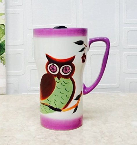 Owl Design Coffee Travel Mug