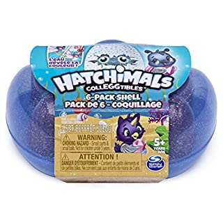 Hatchimals Colleggtibles, Mermal Magic 6 Pack Shell Carrying Case with Season 5 Colleggtibles, for Kids Aged 5 & Up (Color May Vary), Multicolor