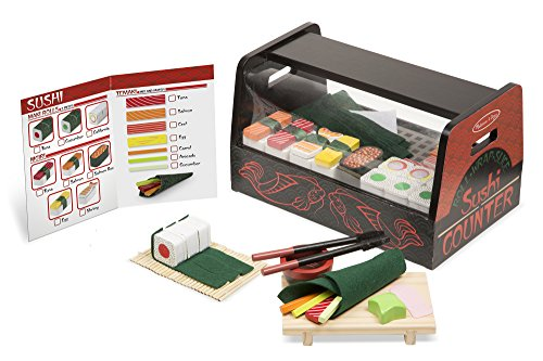 Sushi Wood (Melissa & Doug  Roll, Wrap & Slice Sushi Counter Toy)