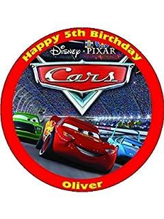Disney CARS LIGHTNING MCQUEEN Birthday Cake Decoration Set Amazon