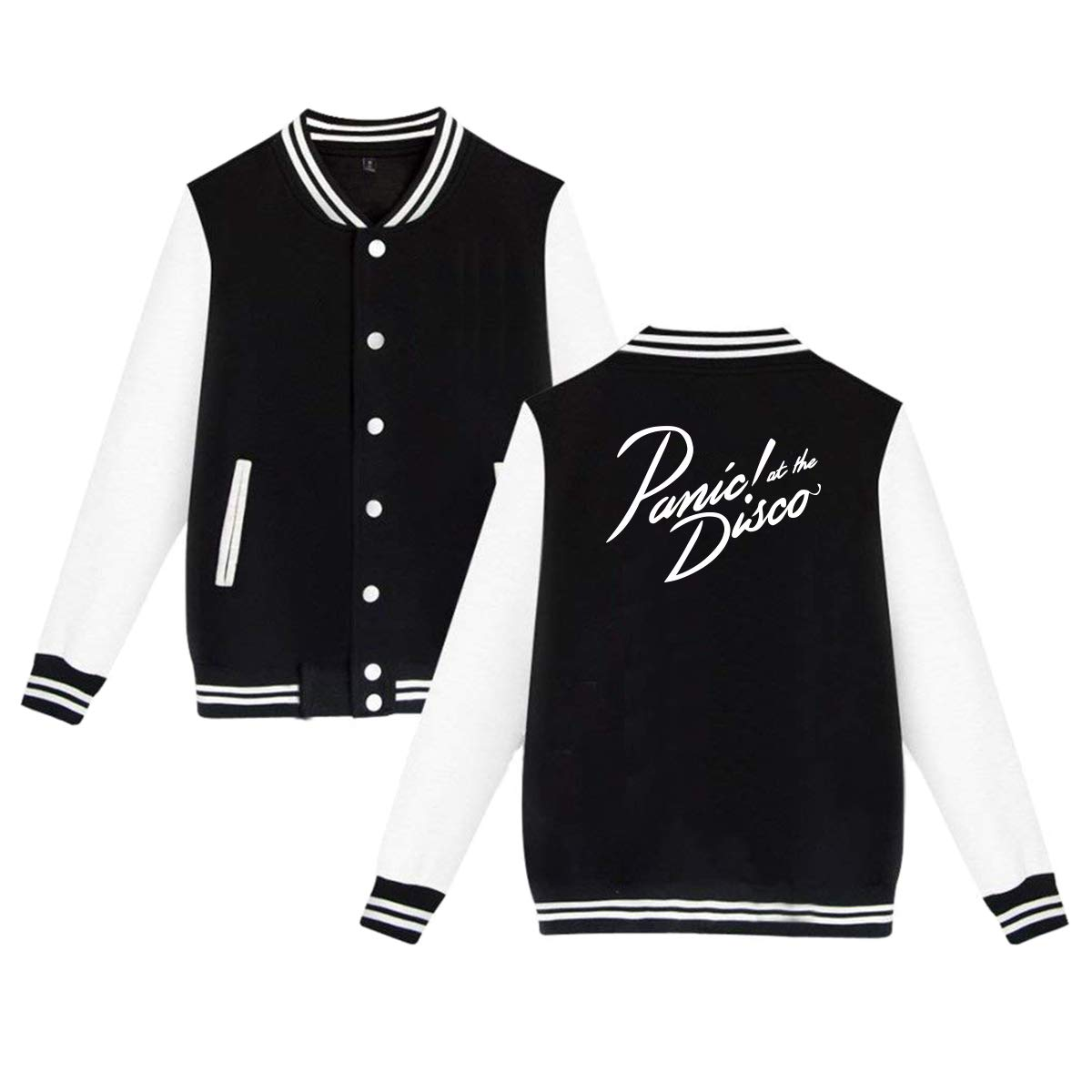 MyLoire Panic at The Disco Unisex Varsity Baseball Jacket Uniform Hoodie Sweatshirt Sweater
