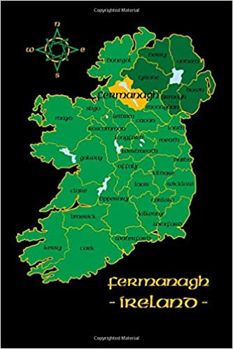 County Map Of Northern Ireland.Fermanagh Ireland County Map Irish Travel Journal Northern