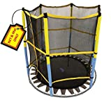 Trampoline Replacement Jumping Band Mat With Attached Safety Net For Bounce Pro- 55'' Kids Airzone Dora the Explorer Trampoline with Safety Enclosure - Net & Mat ONLY (Clips Included)