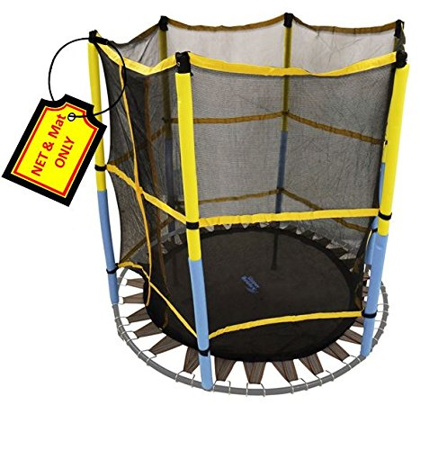 Trampoline-Replacement-Jumping-Band-Mat-With-Attached-Safety-Net-For-55-Round-Frame-Clips-Included-Net-Mat-ONLY