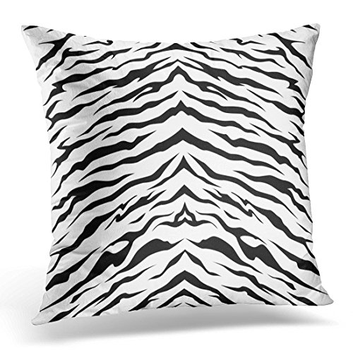 Tiger Stripes Purple Design - VANMI Throw Pillow Cover Orange Zebra Stripe Animals Jungle Bengal Tiger Fur Pattern White Black Skin Stripes Decorative Pillow Case Home Decor Square 16x16 Inches Pillowcase