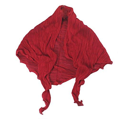 OUFLY Summer Driving Sunscreen Mantón fresco de gasa Sunblock mangas largas de brazo Alto factor de protección solar anti UV bufandas Beach Wrap Bikini Cover Up Rojo