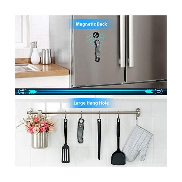 NIXIUKOL Termometro Cucina Digitale Lettura Istantanea Termometro Barbecue con 2 Acciaio Inossidabile Sonda, Display LCD… 6