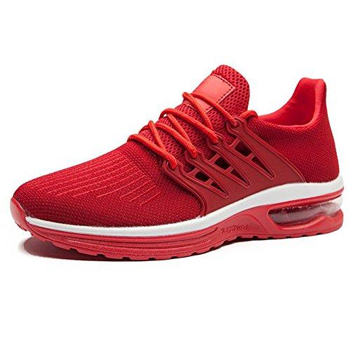 los 2018 Transpirable de Otoño Running Rojo Verano Deportes Viajes Size Low de Shoes Top New Casual EU Hombres Nuevo Malla Zapatos Tenis Individuales Comodidad Neta Primavera Mens wq0vfxOXFI