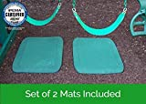 Slide & Swing Set Protective Rubber Mat | Certified Safe for Playground Surfaces (Set of 2)