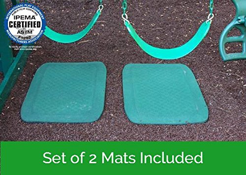 Slide & Swing Set Protective Rubber Mat | Certified Safe for Playground Surfaces (Set of 2) by Rubber Floors and More (Image #4)