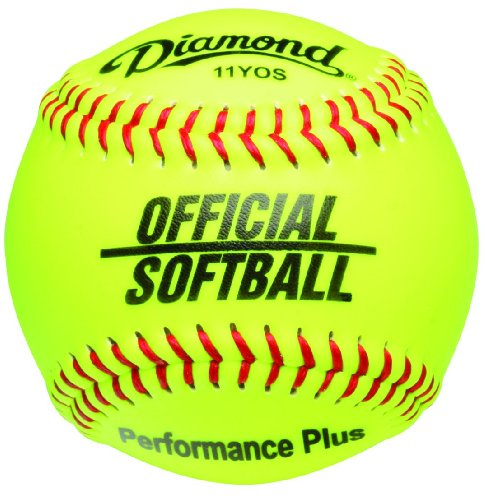 11-Inch Synthetic Optic Cover Softball, Cork Core (Official Game Softball)