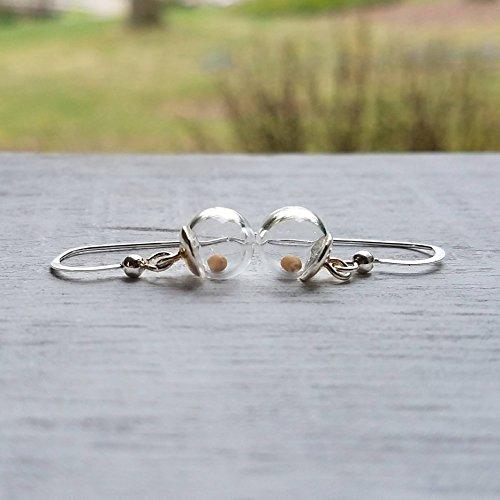 Mustard seed earrings, sterling silver earrings, faith jewelry, Christian jewelry