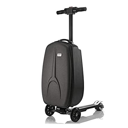 L&QQ Electric Scooter Suitcase, Foldable 3 Wheel Scooter Luggage Travel Trolley Perfect for Business Travel