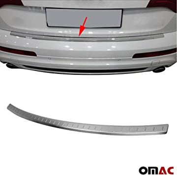 OMAC USA Stainless Steel Chrome Rear Bumper Sill Cover Guard Protector for Audi Q7 2007-2015