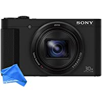 Sony DSCHX80/B High Zoom Point & Shoot Camera (Black) + DigitalAndMore Ultra Gentle Micro Fiber Lens Cleaning Cloth