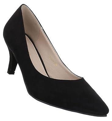 d3f75373b15d5 Damen Pumps Schuhe Klassische Abendschuhe Business Schwarz Elfenbein ...