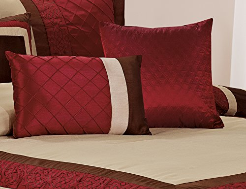 7 Piece Mya Red Bed In A Bag Comforter Sets Queen King Cal King Size King Ebay
