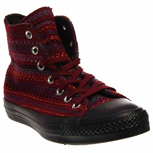 Converse Womens Chuck Taylor All Star Textile Hi Shoes Oxheart/Larkspur/Black